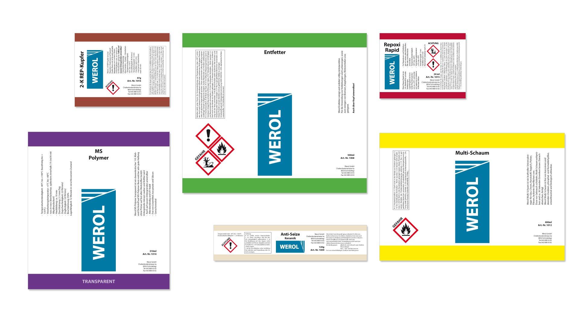 Werol GmbH – Produktetiketten