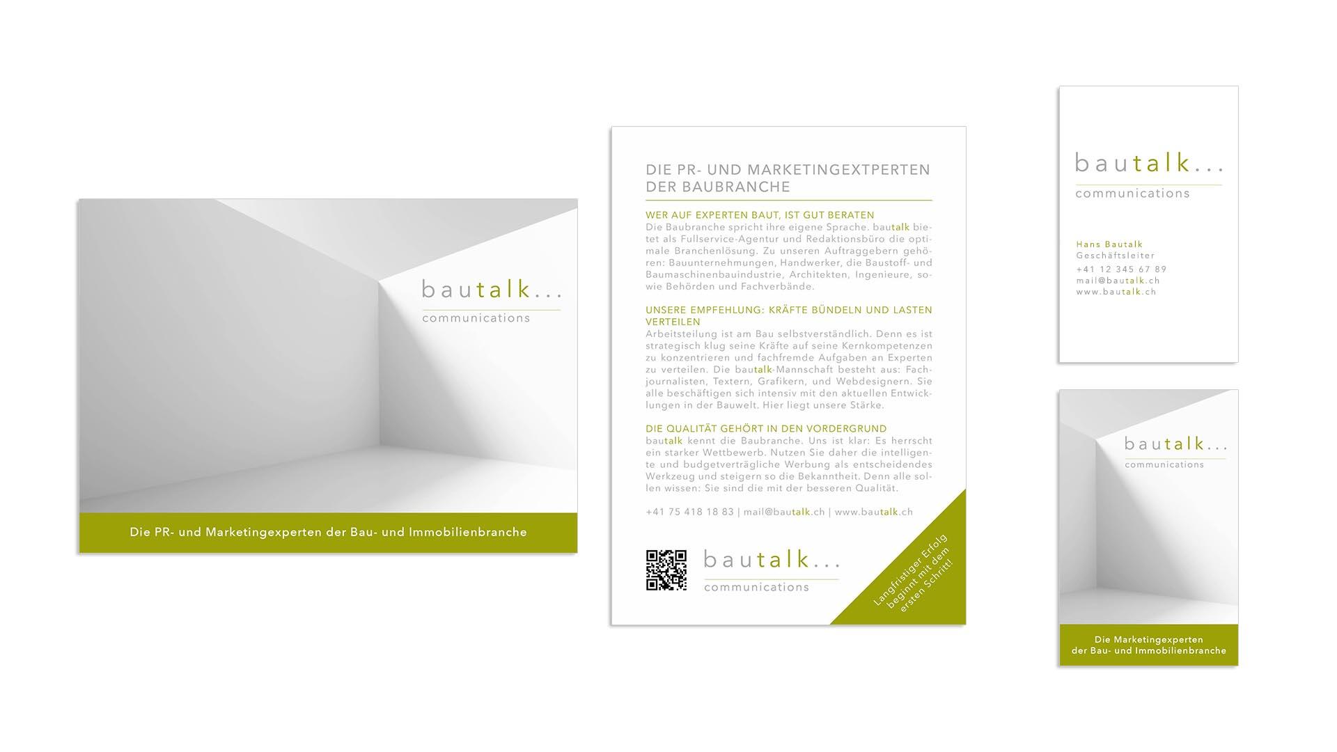 bautalk – Visitenkarte und Flyer